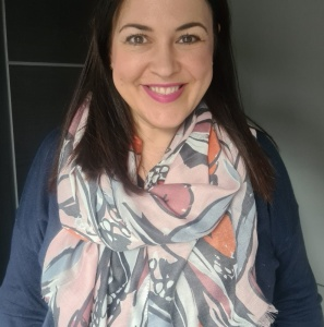 Abstract Flowers - Pink Scarf