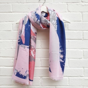 Abstract Splash - Pink Scarf