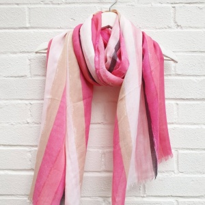 Abstract Stripes - Pink Scarf