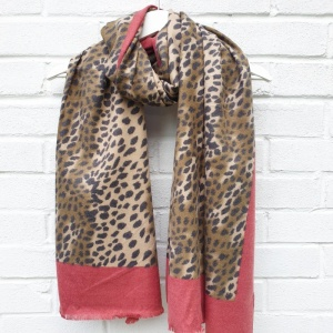 Animal Print - Red Scarf
