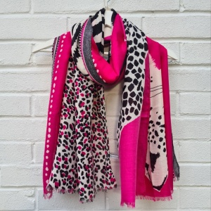 Animal Trio - Hot Pink Scarf