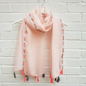 Arrow Trim - Pink Scarf
