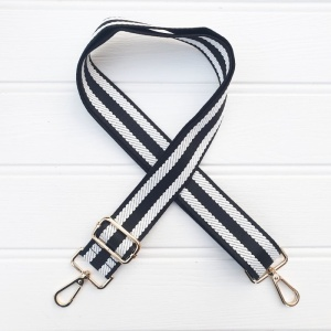 Bag Strap - Monochrome Stripe