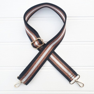 Bag Strap - Shimmer Bronze Stripe
