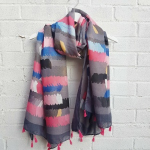 Brush Strokes - Grey Scarf