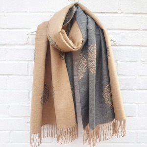 Cashmere Mix Mulberry Trees - Camel Scarf