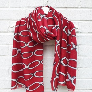 Chains - Red Scarf