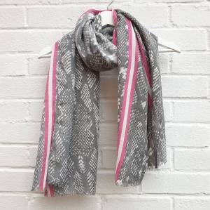 Colour Pop Snakeskin - Pink Scarf