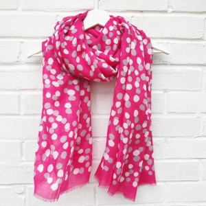 Dotty - Hot Pink Scarf