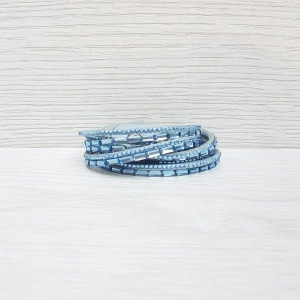 Double Wrap Bracelet - Blue