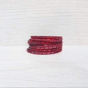 Double Wrap Bracelet - Red
