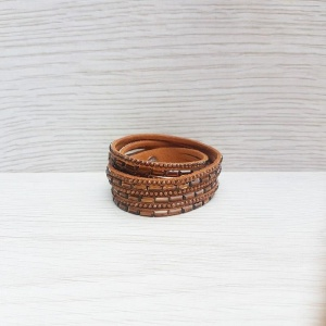 Double Wrap Bracelet - Tan