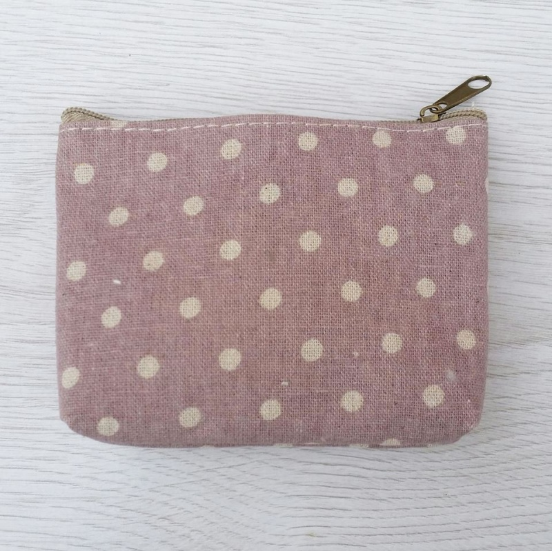 Dusky Dotty Coin Purse - Lilac