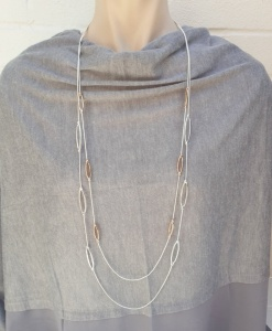 Eyelet Necklace - Silver & Rose Gold