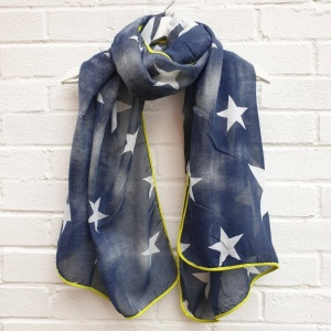 Faded Stars - Denim Blue Scarf