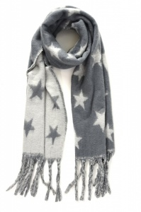 Fluffy Stars - Grey Scarf