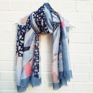 Fun Geo - Blue Scarf