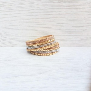 Glam Wrap Bracelet - Golden