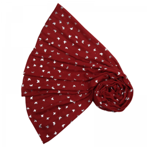 Sparkling Butterflies - Red Scarf