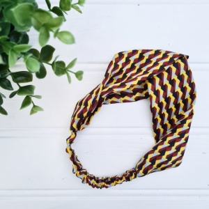 Headband - Geo Yellow