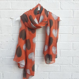 Hearts - Burnt Orange Scarf