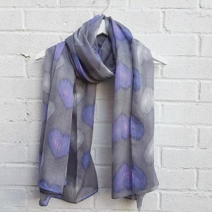 Hearts - Grey Scarf