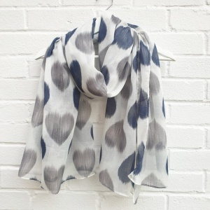 Hearts - White Scarf