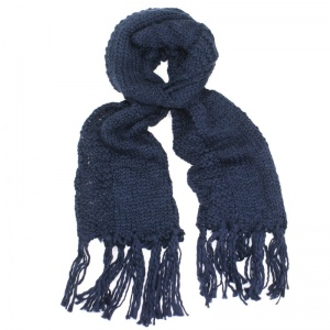 Knitted Scarf - NavyBlue