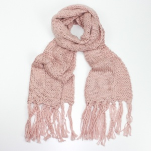 Knitted Scarf - Pink