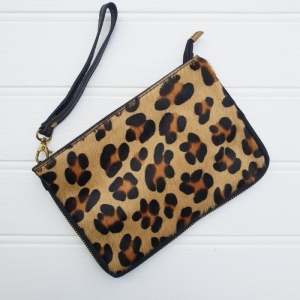 Leather Animal Bag - Leopard