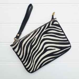Leather Animal Bag - Zebra