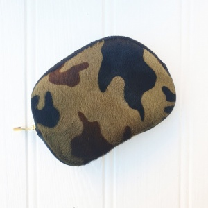 Leather Purse - Camo