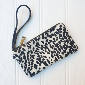 Leather Wristlet Purse - Dalmatian