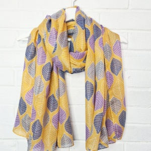 Leaves - Ochre Scarf