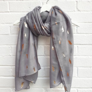 Lightening Bolts - Grey Scarf