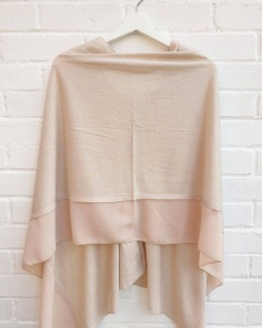 Lightweight Poncho - Cream