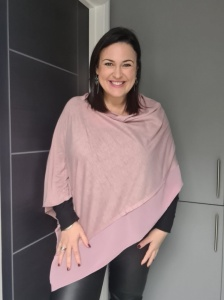 Lightweight Poncho - Dusky Pink