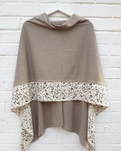 Lightweight Poncho - Taupe