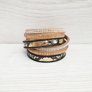 Metallic Wrap Bracelet - Golden