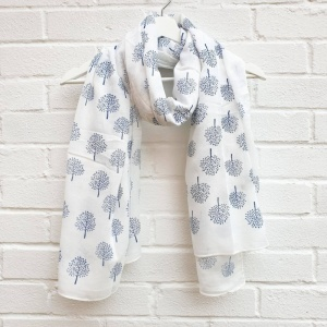Mulberry Trees - Ivory Scarf