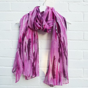 Painted Stripes - Purple Scarf