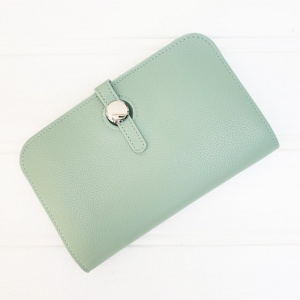 Duo Purse - Mint Green (with photo slot)