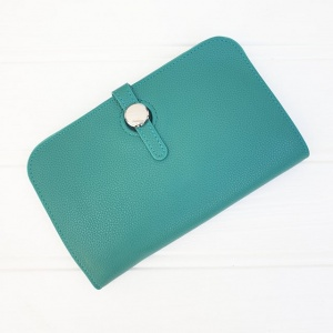 Duo Purse - Teal Green (with photo slot)