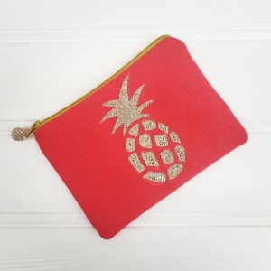 Pineapple Coin Purse - Coral