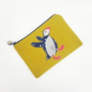 Puffin Coin Purse - Chartreuse