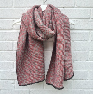 Reversible Leopard - Pink & Grey Scarf