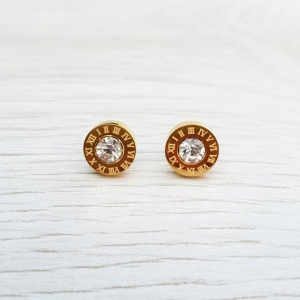 Roman Numeral Earrings - Gold