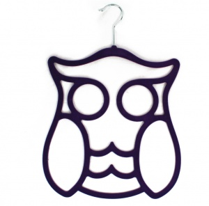 Owl Scarf Holder - Purple