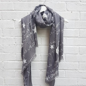 Scattered Stars - Grey Scarf