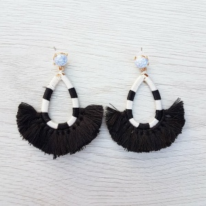 Sienna Earrings - Black